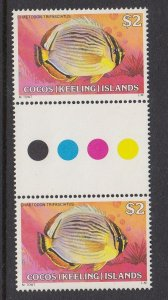 Cocos Islands 50 gutter pair MNH