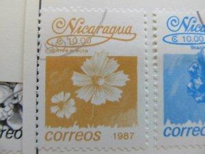 Nicaragua 1987 Flower 10cor fine used stamp A11P11F82