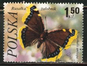 Poland Scott 2230 Used 1977  favor canceled Butterfly stamp
