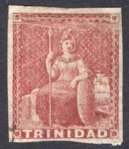 Trinidad 1857 1d Rose Red White Paper SG 12 Scott 6 UN* Cat £2,500($3,300)