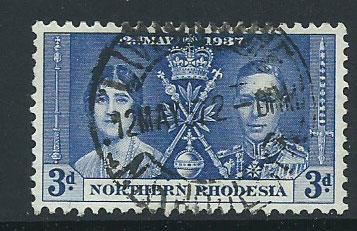 Northern Rhodesia  SG 24 FU  Lovely First day issue cancel