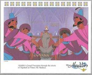 1993   GUYANA  -  SG.  MS 3809 B  -  DISNEY - ALADDIN  -  MNH