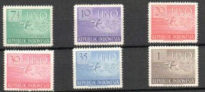 INDONESIA 362-367 OG NH U/M VF SOUND SET $43 SCV