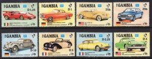 Gambia 620-627 Cars MNH VF