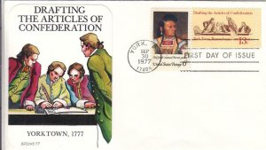 1977, Drafting Articles of Confederation, Brooks, FDC (D12869)