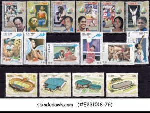 CUBA SELECTED STAMPS OF SPORTS AND OLYMPICS FROM 1991-2012 16V MNH