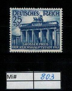 Deutschland Reich TR02 DR Mi 803 1939 Reich Postfrisch ** MNH