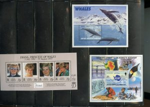 BRITISH ANTARCTICA & SOUTH GEORGIA LOT OF S/S   MINT NH AS SHOWN