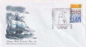 1992, 500th Anniv. Columbus in America, Art Master, FDC (E12242)