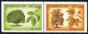 HERRICKSTAMP AZERBAIJAN Sc.# 945A-46A Europa 2011 Pair Perf 3 sides
