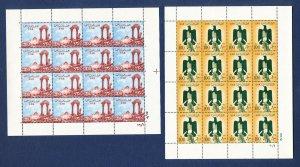 EGYPT UAR - Scott 338 & 339  - FVF MNH S/S of 16 - High Values - 1956