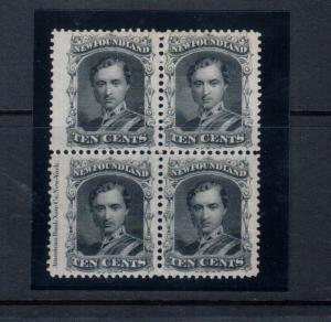 Newfoundland #27 Extra Fine Mint Block **With Certificate**