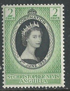 St. Kitts-Nevis  # 119  QE II Coronation 1953   (1) Mint NH