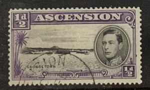 ASCENSION 1938 HALFPENNY SG38 P13.5 FINE USED CAT £4