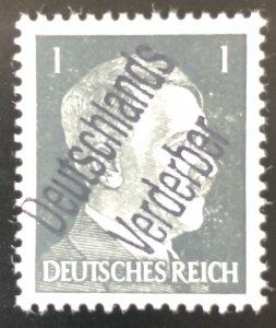 Germany-1945 WWll 3rd Reich-Hitler-Liberation-Ovpt 1-Deutschland Verderber-MNH