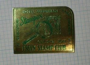 Stampex Essex Stamp Club 1947 E Orange NJ Event Label Souvenir Ad
