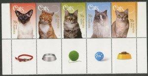 AUSTRALIA Sc#4288-4292 2015 Cats Strip of 5 Complete Set VF OG Mint NH