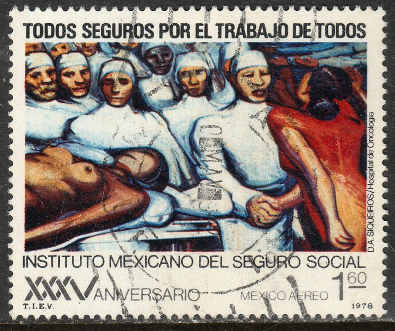 MEXICO C553, 35th Anniversary Social Security Institute. Used. F-VF. (981)
