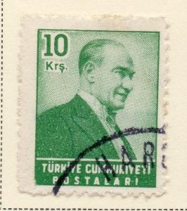 Turkey 1956 Early Issue Fine Used 10k. 093093