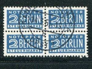 Berlin Michel 8x  block of 4  color variety  - Lakeshore Philatelics