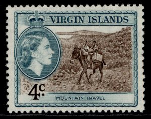 BRITISH VIRGIN ISLANDS QEII SG153, 4c deep brown & turquoise-green, M MINT.