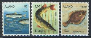 Aland MNH 38-40 Fish Marine Life 1990