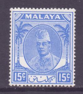 Malaya Kelantan Scott 57 - SG71, 1951 Sultan 15c MH*