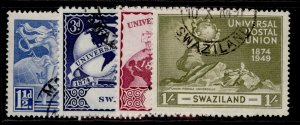 SWAZILAND GVI SG48-51, anniversary of UPU set, FINE USED.