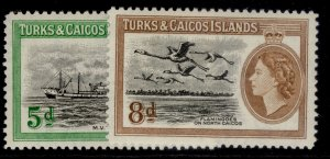 TURKS & CAICOS ISLANDS QEII SG235-236, complete set, NH MINT.