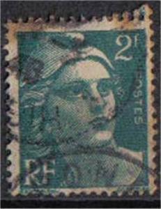 FRANCE, 1945-7, used 2f, Marianne SG536