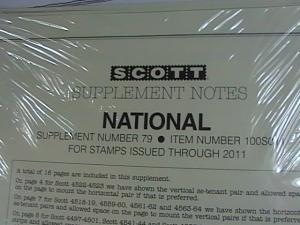 U.S.-SCOTT -NATIONAL---2011 SUPPLEMENT--(NUMBER 79)-NEW IN PLASTIC