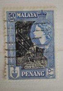 Malaya Penang 1957 Queen Elizabeth II & Local Motives Aborigines used