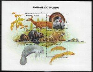 Angola #1128 MNH Sheet - Wild Animals