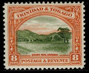 TRINIDAD & TOBAGO GV SG234, 8c sage-green & vermilion, M MINT.