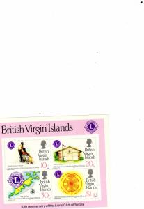 British Virgin Island 1982 Lions Club Tortola   MNH M/s