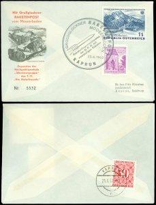 6/23/1962 AUSTRIA, ROCKET MAIL / RAKETENPOST vom MOOSERBRODEN, Cover With Cachet