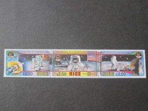 Niue 1994 Sc 668a-c space set MNH