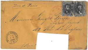 U.S. 77 (2) on Cover to FRANCE SCV$500.00+ Interesting