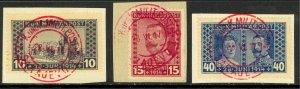 BOSNIA AND HERZEGOVINA 1917 ARCHDUKE MEMORIAL Semi Postal Set Sc B13-B15 VFU