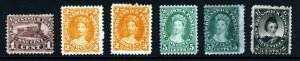 NEW BRUNSWICK CANADA QV 1860-63 Part Set to 17c. SG 7 to SG 19 MINT & MNG