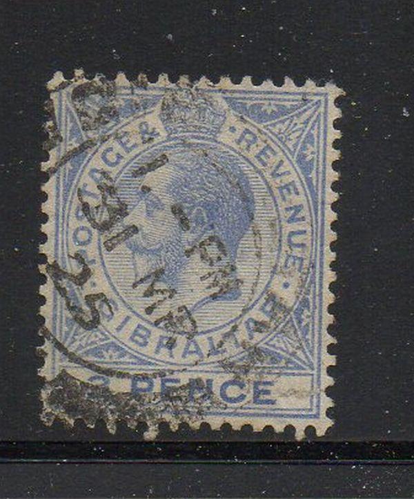 Gibraltar Sc 81 1921 3d ultra George V stamp used
