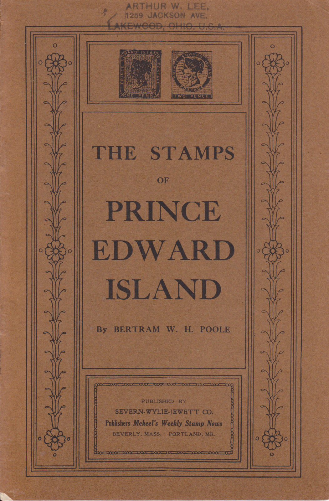 Stamps of Prince Edward Island, Bertram W H  Poole, 1919 used