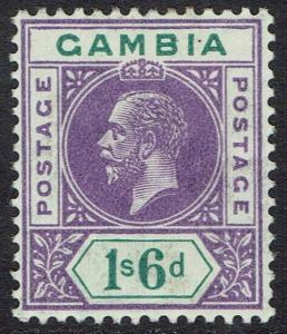 GAMBIA 1912 KGV 1/6