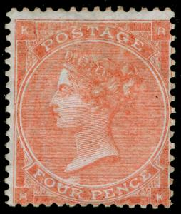 SG80, 4d pale red plate 3, M MINT. Cat £1900. RK