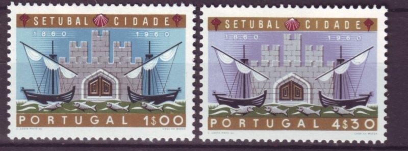 J22047 Jlstamps 1961 portugal set mh #873-4 ships