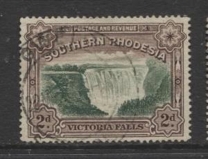 Southern Rhodesia- Scott 31 - Victoria Falls  -1932 - FU - Single 2d Stamp