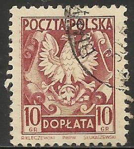 Poland Postage Due 1951 Scott# J124 Used