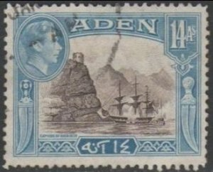 Aden 1945	14a 'Capture of Aden, 1839' used