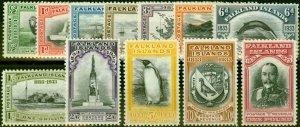 Falkland Islands 1933 Centenary Set of 12 SG127-138 V.F LMM & MNH £1 with Cer...