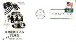 United States, First Day Cover, Flags